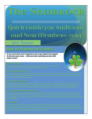2015 Quick Guide for Auditions and New Members